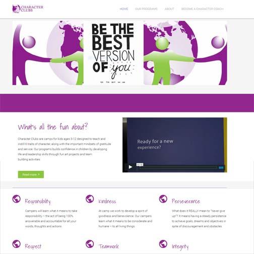 Character Club WordPress Website